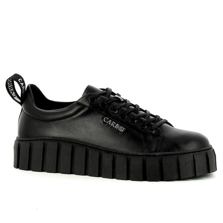 Czarne sneakersy damskie CARINII--B7449-E50-000-000-E68