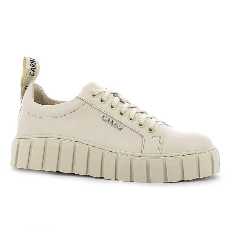 Beżowe sneakersy damskie CARINII--B7449-R53-000-000-E68