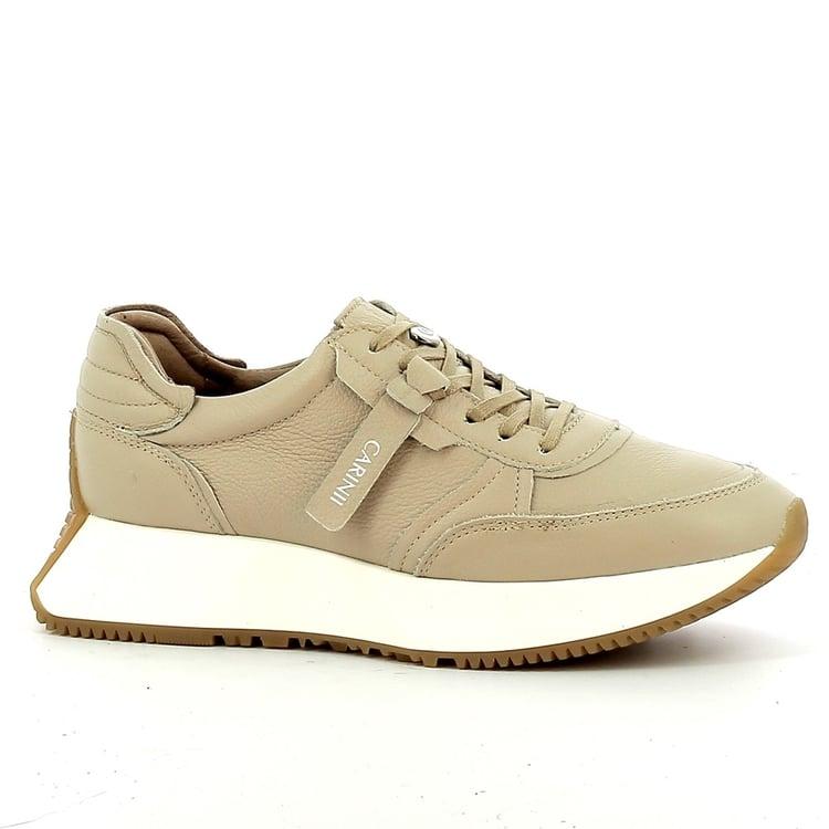 Beżowe sneakersy damskie CARINII--B7561-R31-000-000-E82