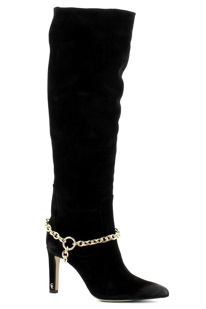 Czarne kozaki na szpilce CARINII--B7590-H20-000-000-E08