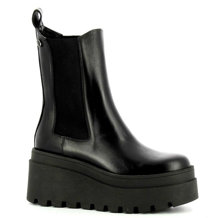 Czarne botki na platformie CARINII--B7654-E50-000-000-E67